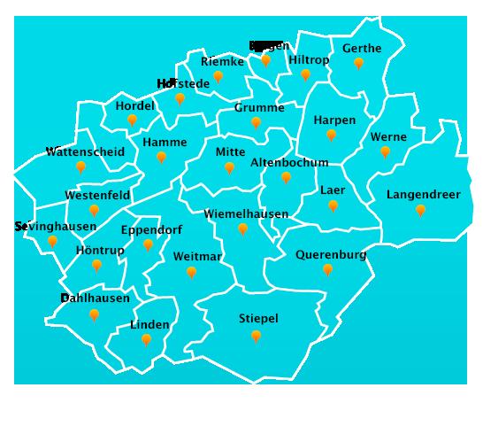 Gartenpflege-Touren Stadtteile Bochum